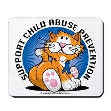 Child-Abuse-Prevention-Cat Mousepad