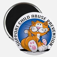 Child-Abuse-Prevention-Cat Magnet