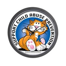 Child-Abuse-Prevention-Cat Wall Clock