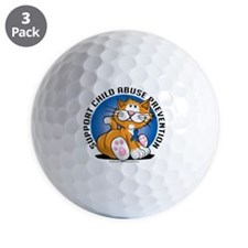 Child-Abuse-Prevention-Cat Golf Ball