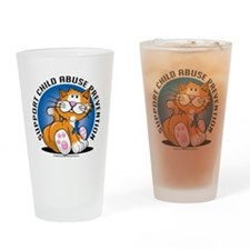 Child-Abuse-Prevention-Cat Drinking Glass