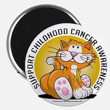 Childhood-Cancer-Cat Magnet
