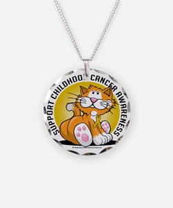 Childhood-Cancer-Cat Necklace