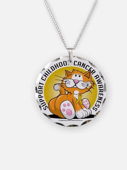 Childhood-Cancer-Cat Necklace
