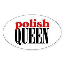 POLISH QUEEN Oval Decal