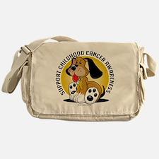 Childhood-Cancer-Dog Messenger Bag