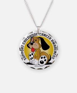 Childhood-Cancer-Dog Necklace
