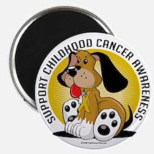 Childhood-Cancer-Dog Magnet