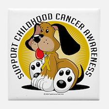 Childhood-Cancer-Dog Tile Coaster