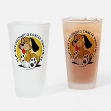 Childhood-Cancer-Dog Drinking Glass