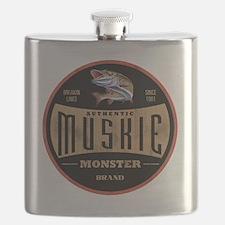 VintageMuskieLogo Flask
