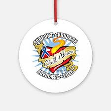 Child-Abuse-Classic-Heart Round Ornament