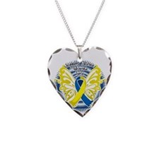 Down-Syndrome-Butterfly-3-blk Necklace Heart Charm