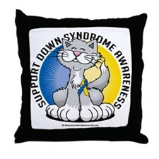 Paws-for--Down-Syndrome-Cat Throw Pillow