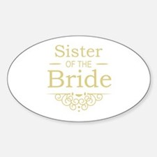 Sister of the Bride Gold Stickers