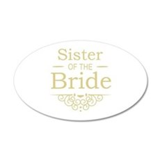 Sister of the Bride Gold Wall Sticker
