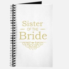 Sister of the Bride Gold Journal