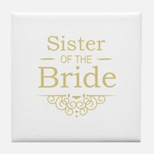 Sister of the Bride Gold Tile Coaster