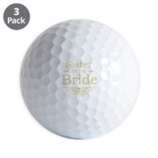 Sister of the Bride Gold Golf Ball