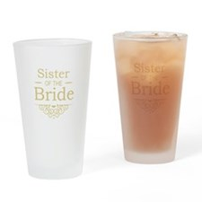 Sister of the Bride Gold Drinking Glass