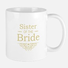Sister of the Bride Gold Mugs