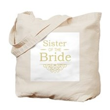 Sister of the Bride Gold Tote Bag