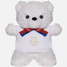 Sister of the Bride Gold Teddy Bear