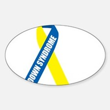 Down-Syndrome-Hope-blk Sticker (Oval)