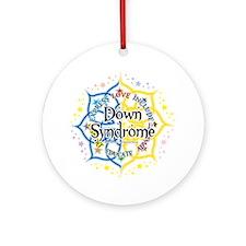Down-Syndrome-Lotus-2009 Round Ornament