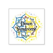 "Down-Syndrome-Lotus-2009 Square Sticker 3"" x 3"""