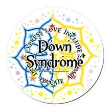 Down-Syndrome-Lotus-2009 Round Car Magnet