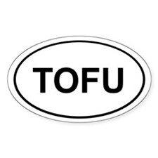 Tofu Sticker (White Oval)