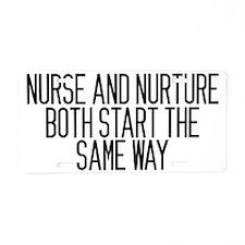 nurseandnurture Aluminum License Plate