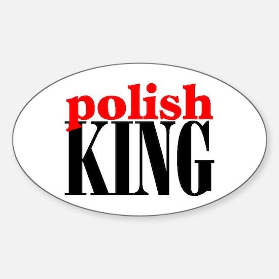 POLISH KING Oval Decal