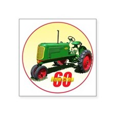 "Oliver60-C8trans Square Sticker 3"" x 3"""