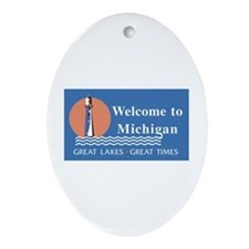 Welcome to Michigan - USA Oval Ornament