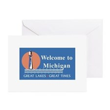 Welcome to Michigan - USA Greeting Cards (Package