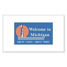 Welcome to Michigan - USA Rectangle Decal