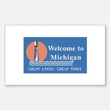 Welcome to Michigan - USA Rectangle Decal