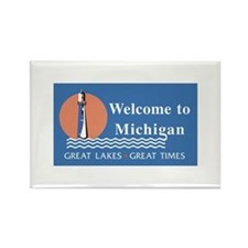 Welcome to Michigan - USA Rectangle Magnet