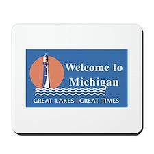 Welcome to Michigan - USA Mousepad