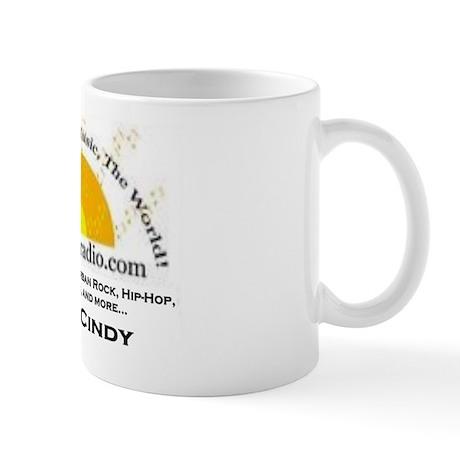 getupradio promo model shirt cindy Mug