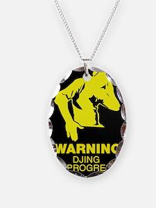 Warning DJing in Progress Necklace