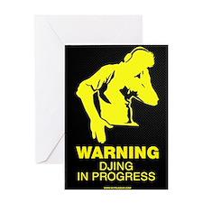 Warning DJing in Progress Greeting Card