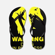 Warning DJing in Progress Flip Flops