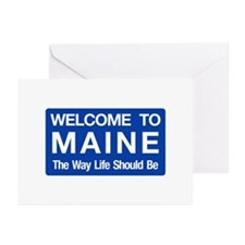 Welcome to Maine - USA Greeting Cards (Package of