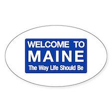 Welcome to Maine - USA Oval Decal