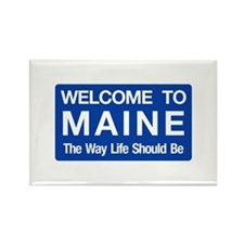 Welcome to Maine - USA Rectangle Magnet