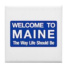 Welcome to Maine - USA Tile Coaster