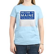 Welcome to Maine - USA Women's Pink T-Shirt